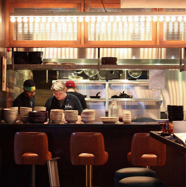 Photo of interior kitchen at restaurant